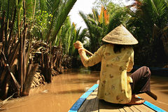 Mekong River Vietnam Royaltyfri Bild