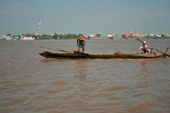 Mekong river,Vietnam. Royalty Free Stock Images