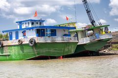 Mekong River Vietnam Southeast Asia Stock Photography