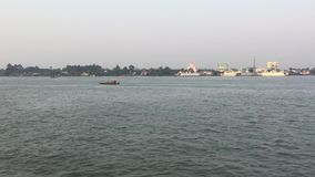 The Mekong river in Vietnam stock video