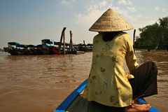 Mekong river,Vietnam. Royalty Free Stock Photo