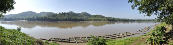 Mekong River View Forest Nature Royalty Free Stock Photo
