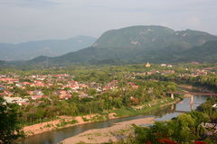 Mekong river view from Mount Phousi. Luang Prabang. Laos Royalty Free Stock Image
