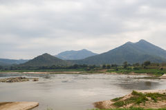 Mekong River view take from Chiang Khan Royalty Free Stock Photo