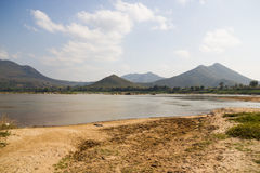 Mekong River view take from Chiang Khan Stock Images