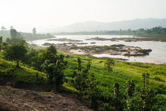 Mekong River view take from Loei Royalty Free Stock Image