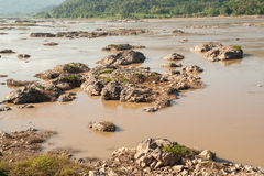 Mekong River view take from Loei Stock Images