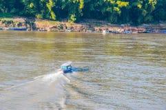 Mekong rivier Laos Stock Foto's