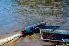 Mekong rivier Laos Royalty-vrije Stock Foto