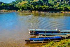 Mekong rivier Laos Stock Afbeelding