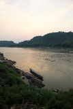 Mekong Rivier - Laung Prabang Laos Stock Foto