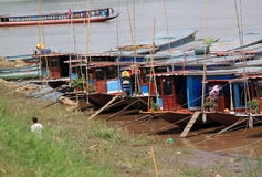 Mekong rivier in Luang Prabang Laos Royalty-vrije Stock Afbeelding