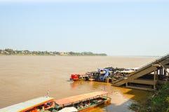 Mekong rivier Thai Stock Foto's