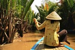 Mekong rivier, Vietnam Royalty-vrije Stock Afbeelding