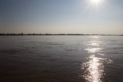 Mekong Rivierlandschap royalty-vrije stock afbeelding