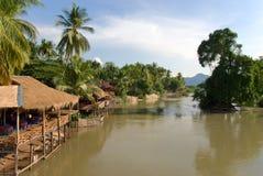Mekong riviermening Royalty-vrije Stock Fotografie