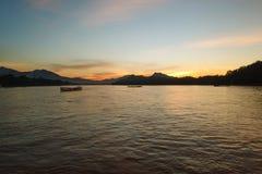 Mekong rzeka przy Luang Prabang zdjęcie stock