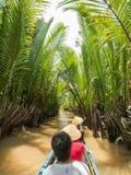 Mekong rzeka w Mój Tho, Wietnam Zdjęcie Stock