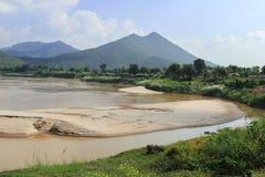 Mekong rzeki widok Zdjęcia Royalty Free