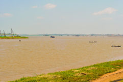 Mekong samenloop Stock Foto