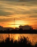 Mekong sunset Royalty Free Stock Photos
