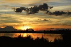 Mekong sunset Stock Photo