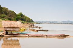 Mekong between Thailand and Laos Royalty Free Stock Photo