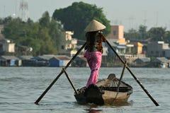 Mekong transportation Royalty Free Stock Photography