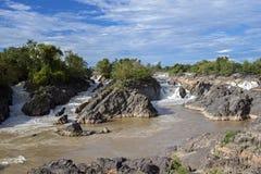Mekong vattenfall, Laos Arkivbild