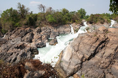 Mekong waterfall Royalty Free Stock Photography