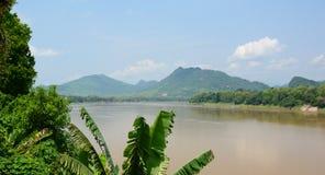 Mekong widok Luang Prabang Laos Zdjęcia Royalty Free