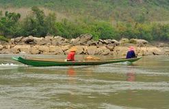 Mekonget River i Luang Prabang arkivbilder