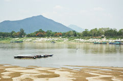 MEKONGR RIVER Sanakham laos. MEKONGR RIVER Sanakham Province laos Royalty Free Stock Photos