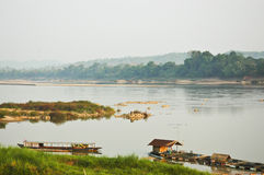 MEKONGR RIVER VIEW OF CHIANG KHAN Royalty Free Stock Image