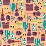 Meksyk bezszwowy wzór Zdjęcia Stock