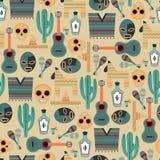 Meksyk bezszwowy wzór Obraz Stock