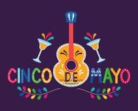 Meksyk cinco de Mayo karta royalty ilustracja