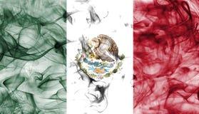 Meksyk dymu flaga odizolowywająca na białym tle Fotografia Royalty Free