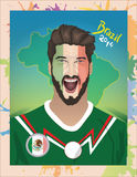 Meksyk fan piłki nożnej Obrazy Stock