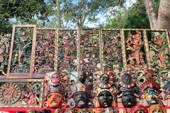Meksyk majski drewno handcrafts w dżungli fotografia royalty free