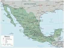 Meksyk mapa z selectable terytorium wektor ilustracji
