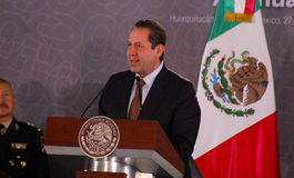Meksyk stanu gubernator Eruviel Avila Villegas Zdjęcie Stock