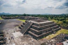 MEKSYK, WRZESIEŃ - 21: Widok Teotihuacan od ostrosłupa księżyc Fotografia Royalty Free