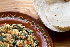 Meksykańscy jajka z chaya obraz royalty free