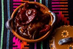 Meksykańscy korzenni chipotle pieprze zdjęcie royalty free