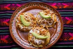 Meksykańscy tinga tostadas zdjęcie stock