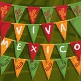 Meksykańska chorągiewka Fotografia Royalty Free