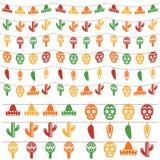 Meksykańska chorągiewka Zdjęcia Royalty Free