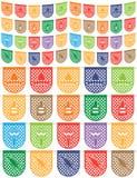 Meksykańska chorągiewka Obrazy Royalty Free