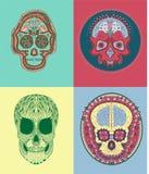 Meksykańska Cukrowa czaszka Zdjęcie Stock